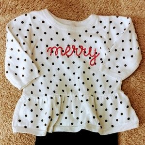 Polka Dot Sweater with Matching Leggings